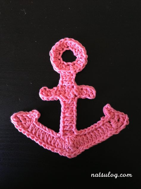 ♥︎Step-by-step Free Crochet Tutorial♥︎ Bigger anchor motif for summer :) Use it as an applique :D