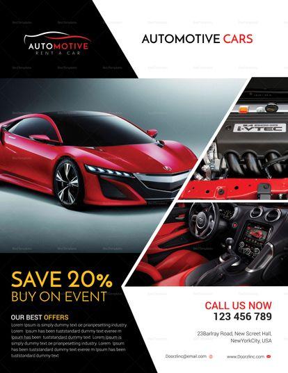 Automotive Car Sales Flyer Template Car Advertising Design Sale