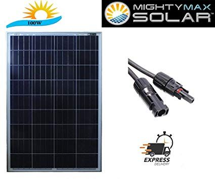 100 Watt 12 Volt Waterproof Polycrystalline Solar Panel Charger Mighty Max Battery Brand Product Rev Solar Panel Charger Off Grid Solar Power Rv Solar Panels