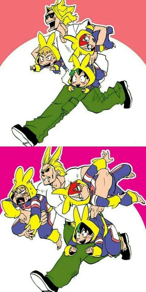 Toshinori/All Might, Katsuki Bakugou, Izuku Midoriya, Shouto Todoroki Anime Meme, Comic Anime, Film Anime, Anime Guys, My Hero Academia Episodes, My Hero Academia Shouto, Hero Academia Characters, Boku No Hero Academia Funny, Boku No Academia