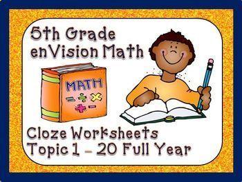 Envision Math 5th Grade Vocabulary Worksheets Full Year Envision Math Math Vocabulary Fifth Grade Math