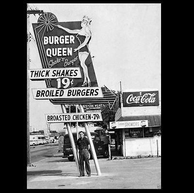 Vintage McDonald/'s Restaurant PHOTO Sign Burger Joint 1960s Drive-In Diner
