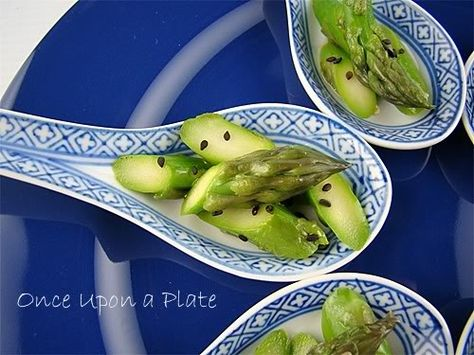 Once Upon a Plate: Asparagus-Sesame Spoons