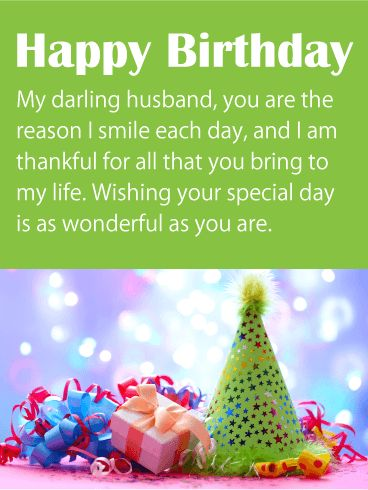 I Am Thankful For You Happy Birthday Wishes Card For Husband For Your Husband S Birthday Let Him Know You Are Thankful For All He Has Done For Pinteres
