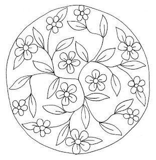 Dibujo de mandala de flores