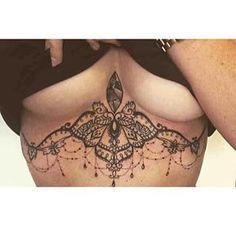 sternum under boob tattoo - Pesquisa Google