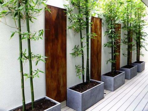 idée de décoration de jardin avec du bambou | Jardin ...