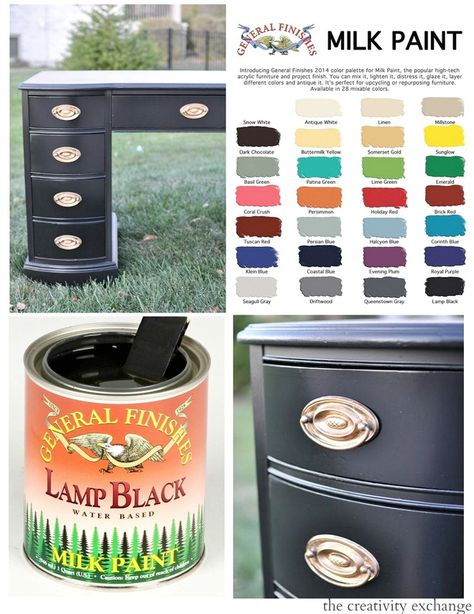 Tips and tricks for how to use General Finishes Milk Paint. What is milk paint and how to apply it for furniture revamp projects for a gorgeous paint finish.