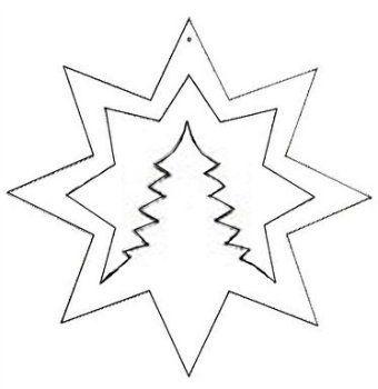Patron étoile Sapin à Découper Etoile De Noel Noel Et