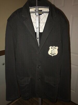 Sponsored Ebay Rugby Polo Ralph Lauren Crest Cotton Knit Rowing Blazer Sportcoat Jacket Sz L 42 Rowing Blazers Sportcoat Blazer