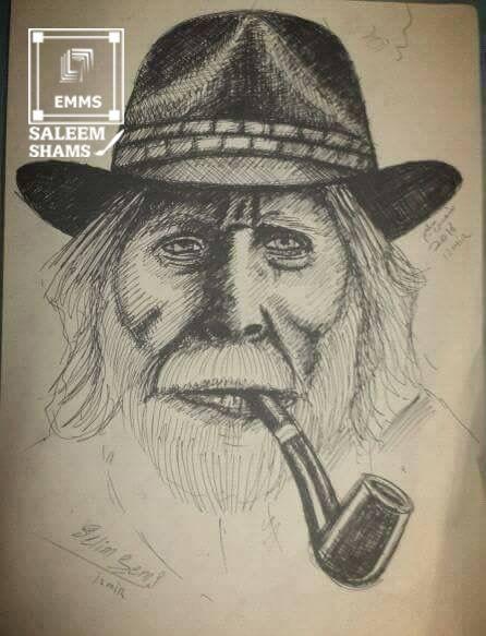 مدونة شمس رسمة وجه رجل يدخن بالخطوط Blog Male Sketch Blog Posts