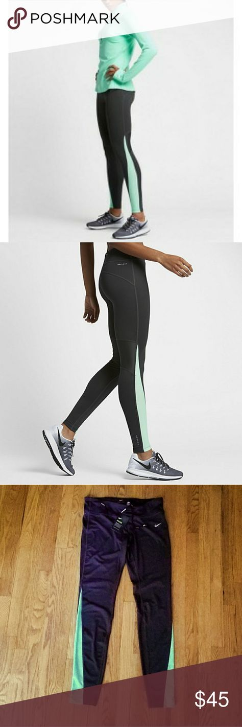 New Nike Racer Tights New with tags attached! Nike Dri FIT
