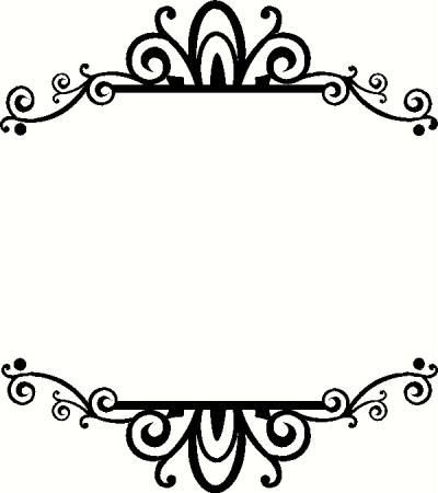 clip art free frame frame border ornament decorative rh pinterest com clip art fancy numbers fancy clip art border