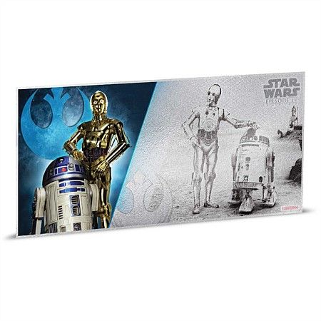 2019 Star Wars The Force Awakens 5g Silver Coin Note x 2 Series Notes