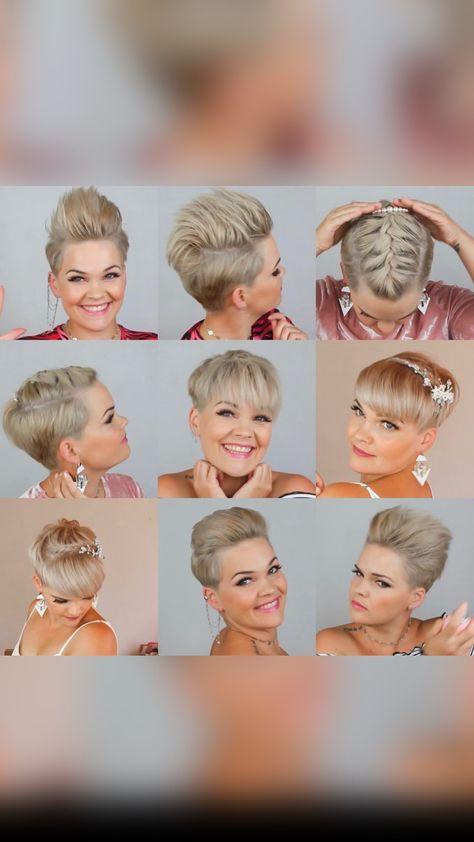 6 styles for short hair