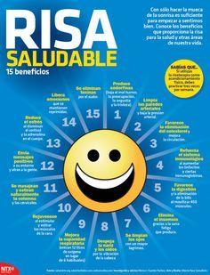 15 beneficios de la risa #infografia #infographic