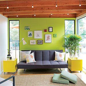 Readymade backyard cottage   Double duty living room
