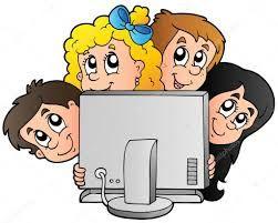 Nino Usando Computadora Animado Buscar Con Google Teacher Cartoon Kids Computer Cartoon Kids