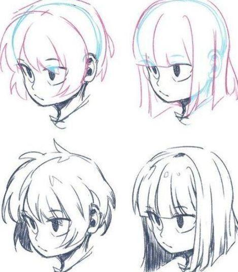Anime Manga Hairstyle Drawing Reference Sketch Doodle Art Manga Hair Anime Boy Hair How To Draw Anime Hair
