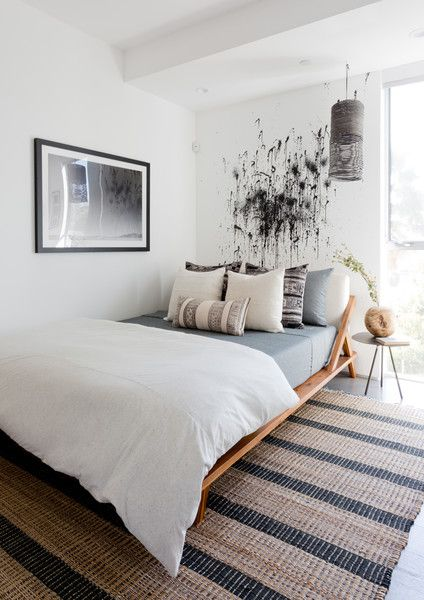 Bold Bedroom - Pierce Brown's Bachelor Pad Brings The Drama To A Cali Cool Space - Photos