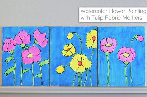 Easy Diy Watercolor Wall Art Tutorial With Tulip Fabric Markers