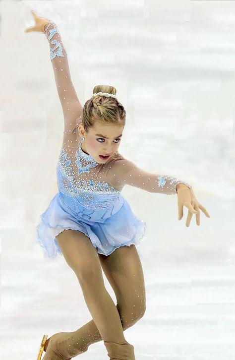 Details about  /Blue Marvellous Ice Skating Figure skating Dress Gymnastics Dance Costume Y119