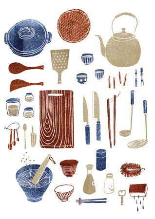 kitchen tools by masako kubo