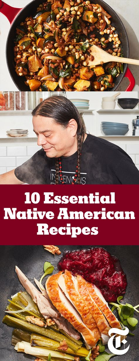 Sean Sherman is the founder of The Sioux Chef, a company devoted to Indigenous food. He created recipes to showcase tribal diversity across the lower 48 states. Chef Recipes, Cooking Recipes, Appetizer Recipes, Cherokee Food, Aboriginal Food, Native Foods, Food Porn, Create A Recipe, International Recipes