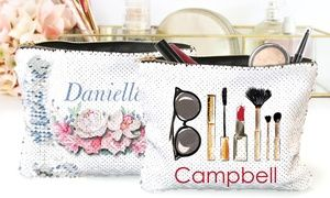 Personalized Flip Sequin Makeup Accessory Bags Sequin Pillow Or