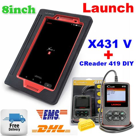 Launch X431 V Tablet With CReader 419 DIY OBD2/EOBD Scanner Auto