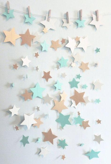 Mint Shimmer Gold and Ivory Home Decor Star by SassyPantsNebraska #DIYHomeDecorGold