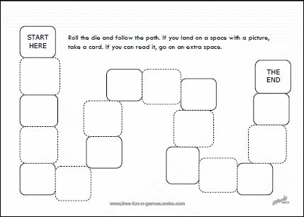 Printable Board Game Templates