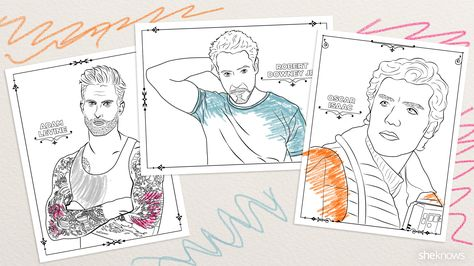 32 Adult Coloring Book Pages Of Hollywood S Hottest Men And They