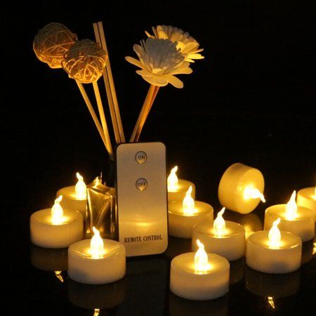 Hot 1pcs Flameless Candles Flickering with Realistic Moving Flame Romantic LED