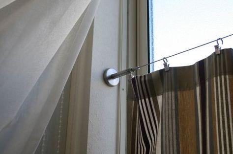 結構使えるカーテンワイヤー カーテンだけじゃないおしゃれな使い方の画像 カーテンワイヤー カーテン インテリア