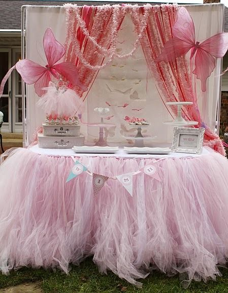 Fairy dessert table.... If it were sparkly white... LOVE it