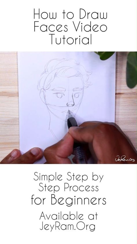 How to Draw Faces  Simple Step by Step Process for Drawing People