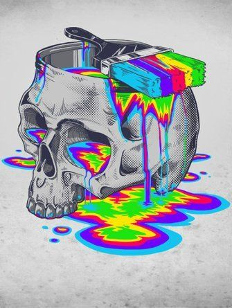 Find Images And Videos About Skull Colors Paint On We Heart It