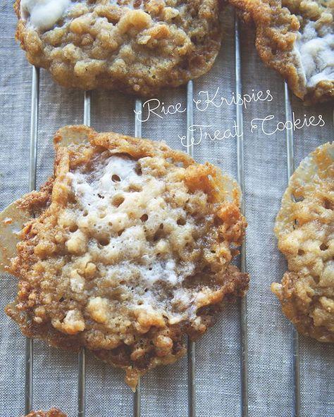 Rice krispies treat cookies