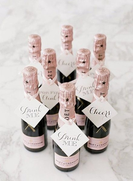 Mini Bubblies - Impress Your Guests With These Wedding Favors - Photos