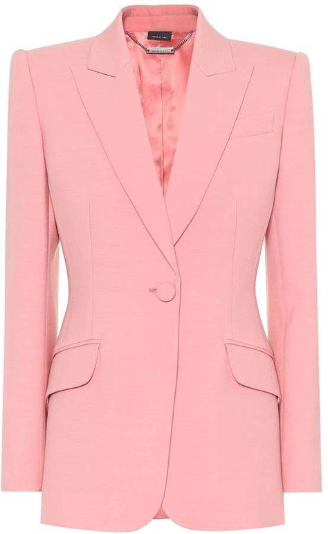 Alexander McQueen Wool and silk-blend blazer