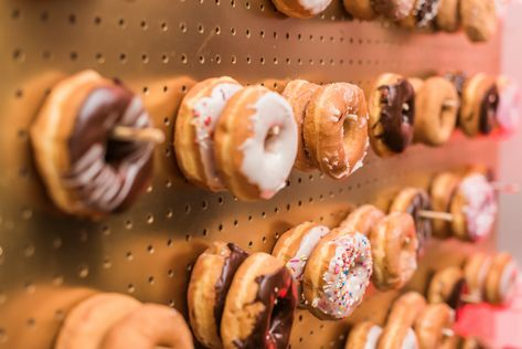 Get creative as you want with your dessert selections! Bring in your own donut wall if you'd like! It was would be a perfect addition to your chocolate indulgence room! #RonJaworskiWeddings #RamblewoodCountryClub #NewJerseyWedding#RusticWedding #WeddingVenue #NJWeddingVenue #NJWeddings #DonutWall #DessertRoom #CreativeDesserts