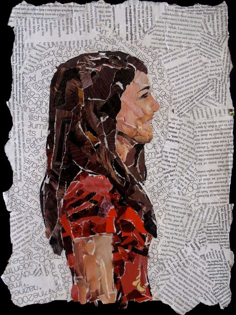 Collage - art by Carolyn Fisk, photo from The ArtRoom