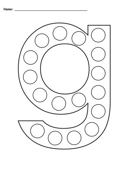 Free Letter G Do A Dot Printables Includes Uppercase And Lowercase Letters In 2 Versions Letter G Worksheets Like T Letter G Crafts Letter A Crafts Do A Dot