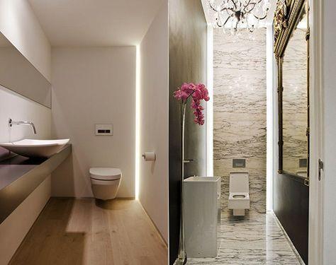 Bad modern gestalten mit Licht | Badezimmer, Badbeleuchtung ...