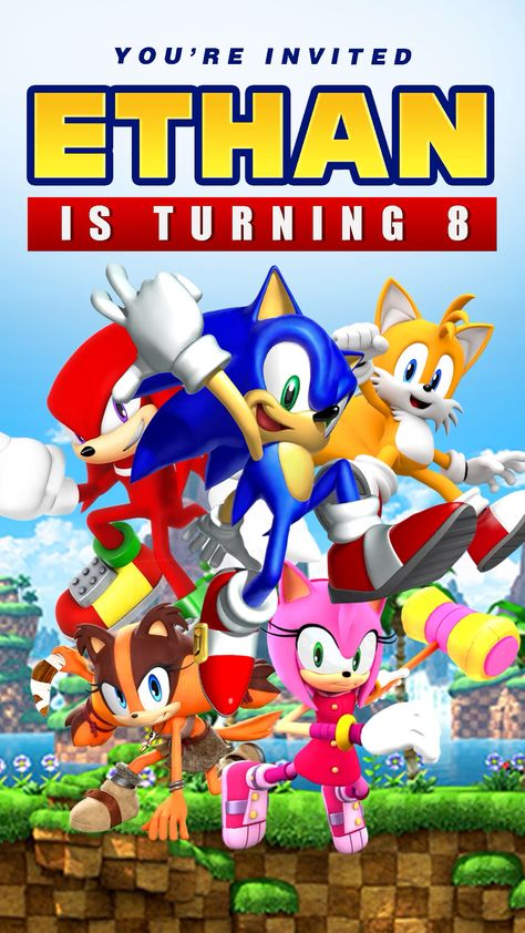 Sonic The Hedgehog Theme Party Video Invitation, Sonic Party Ideas