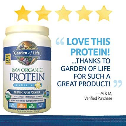 Amazon Com Garden Of Life Organic Vegan Protein Powder With