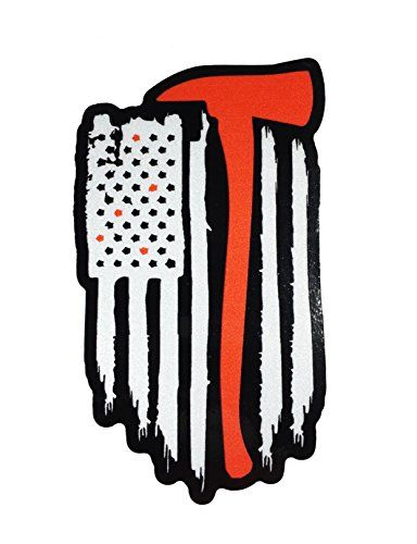 The Reflective Vertical Thin Red Line With Axe United Sta Https Www Amazon Com Dp B078tphshw Ref Cm Sw Fire Fighter Tattoos Firefighter Tattoo Firefighter