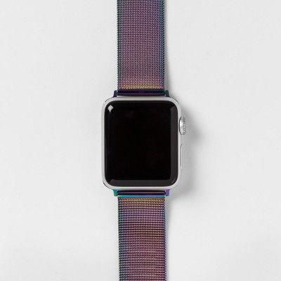 Heyday Apple Watch Mesh Band 42mm Cool Iridescent Apple Watch Apple Watch Bands Leather Mesh Band