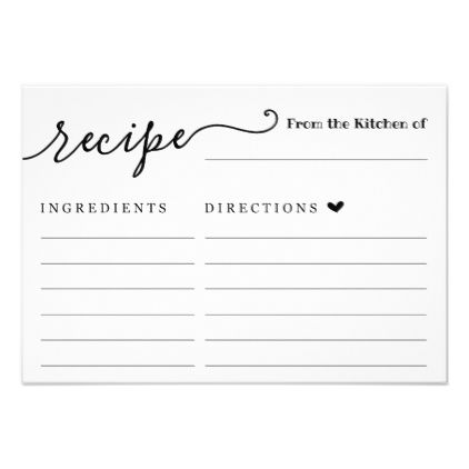 Recipe Card Zazzle Com Recipe Cards Recipe Index Card Template Food Printables